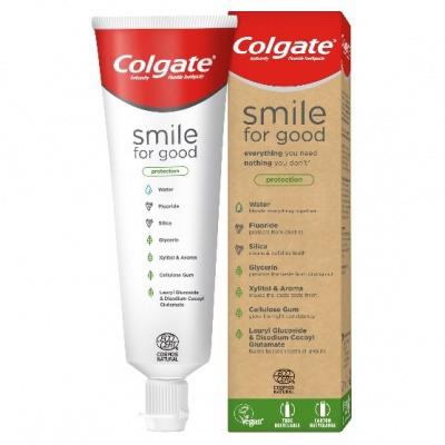 tubo pasta de dente colgate reciclável