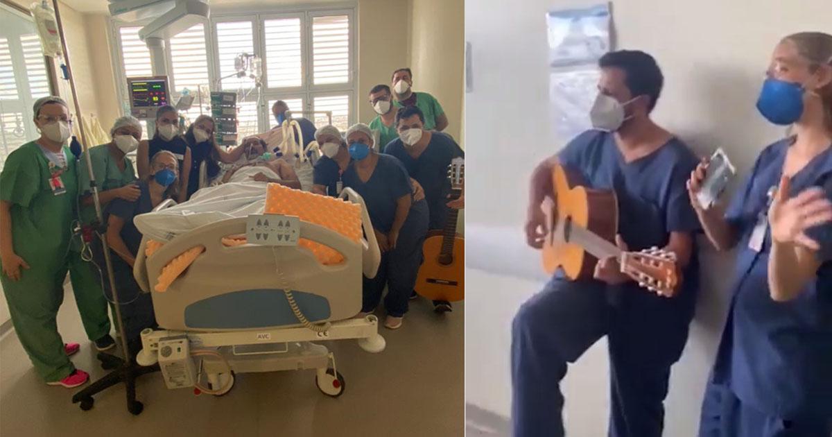 equipe médica com paciente em maca