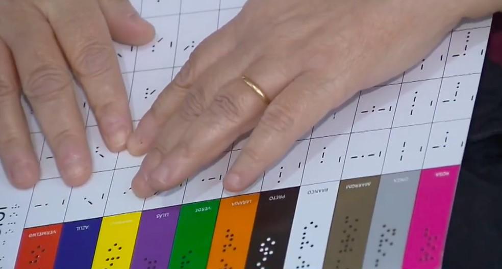 linguagem tátil facilita identificação cores pessoas cegas
