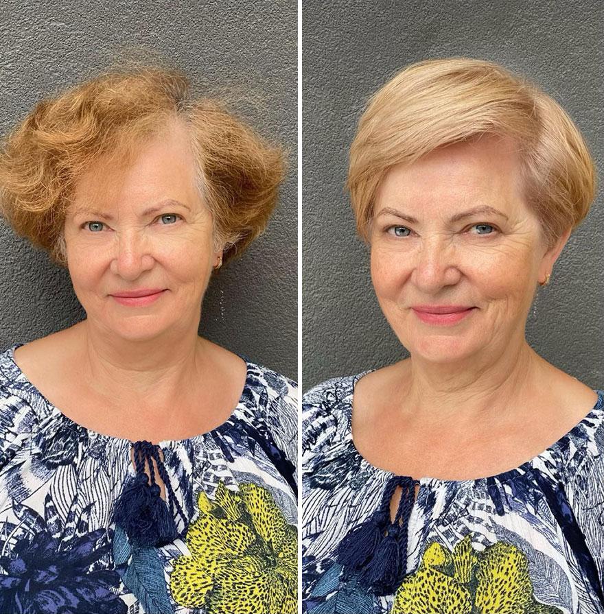 cabeleireira transforma visual clientes corte de cabelo