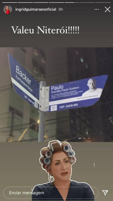placa rua paulo gustavo