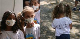 Crianças em ação solidária