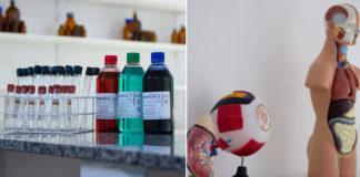 frascos vidros laboratório ciências escola