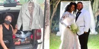 noivos posam foto casamento