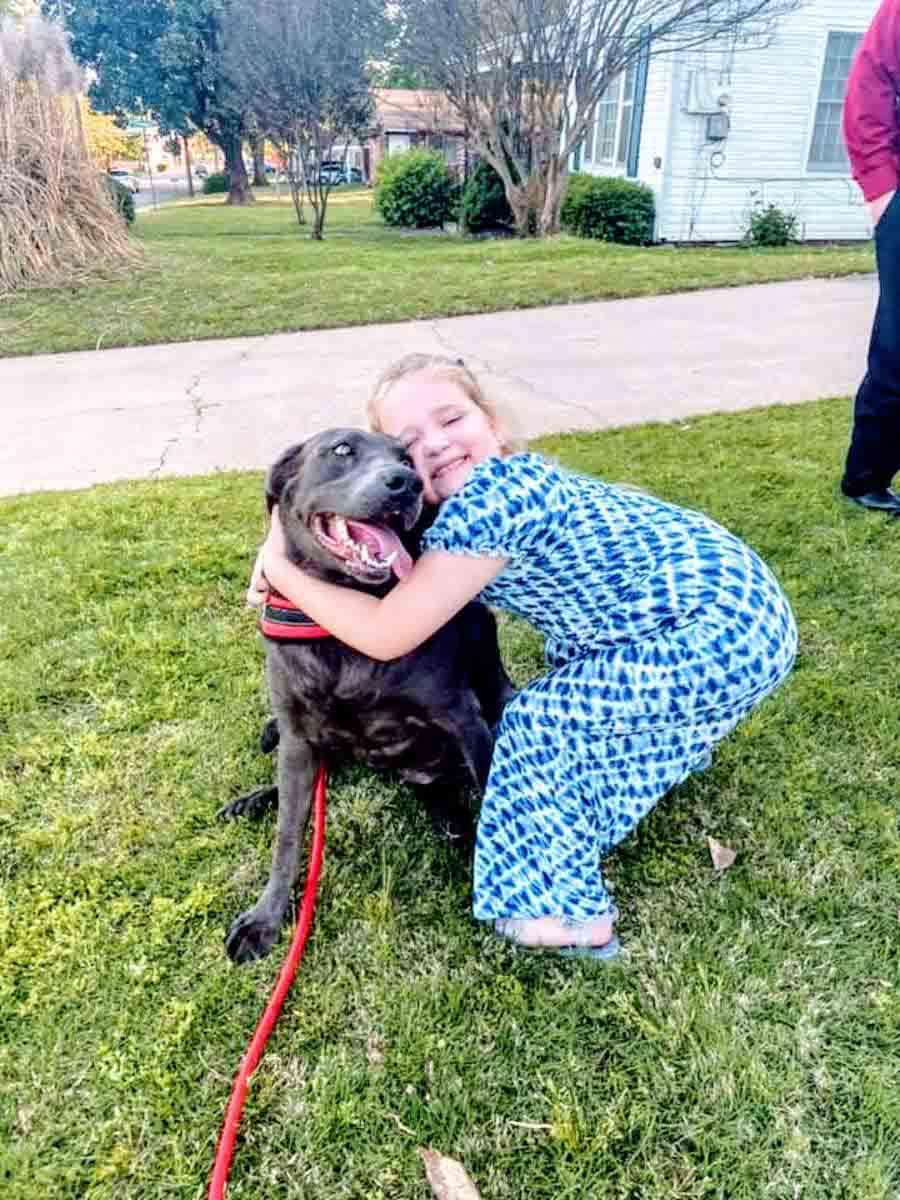 menina abraça pitbul funeral pai