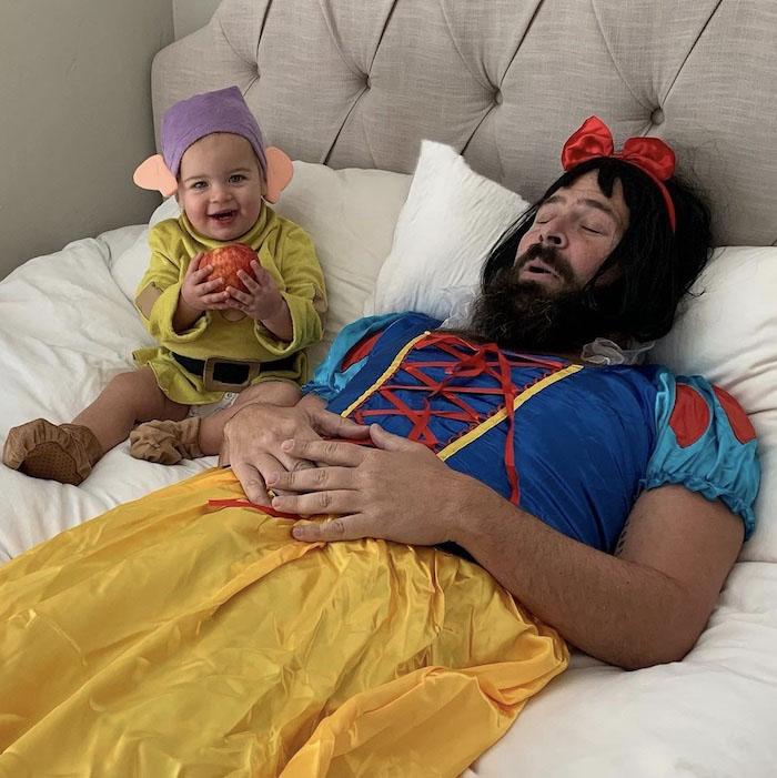 pai filha foto tema a bela adormecida
