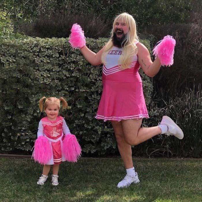 pai e filha foto tema líder torcida