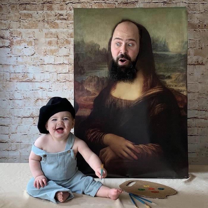 pai filha foto tema monalisa