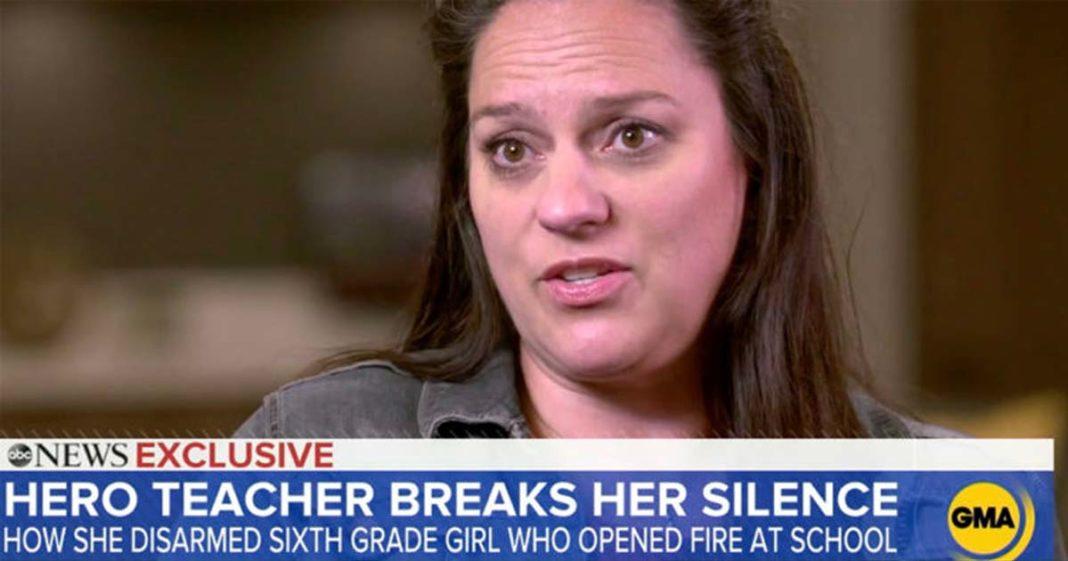 entrevista professora desarmou aluna abraço tiroteio escola