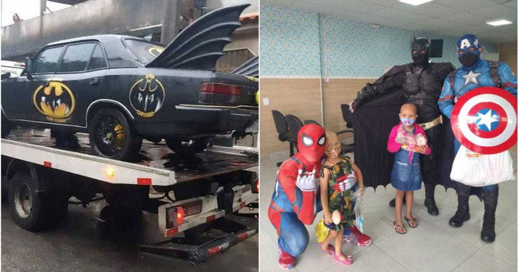 Batmóvel para levar super-heróis aos hospitais