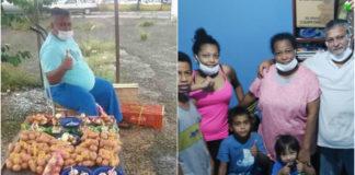 Família que vendia frutas com chave de casa nova