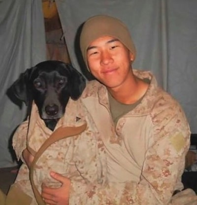 veterano adota cachorra 5