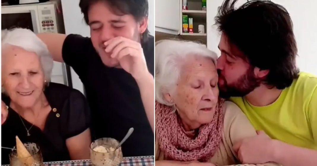 avó com Alzheimer tem reações lindas ao saber que neto é gay