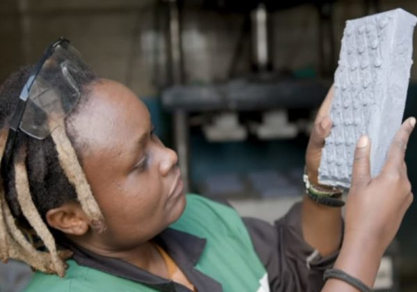 engenheira tijolo plástico reciclado mais forte concreto