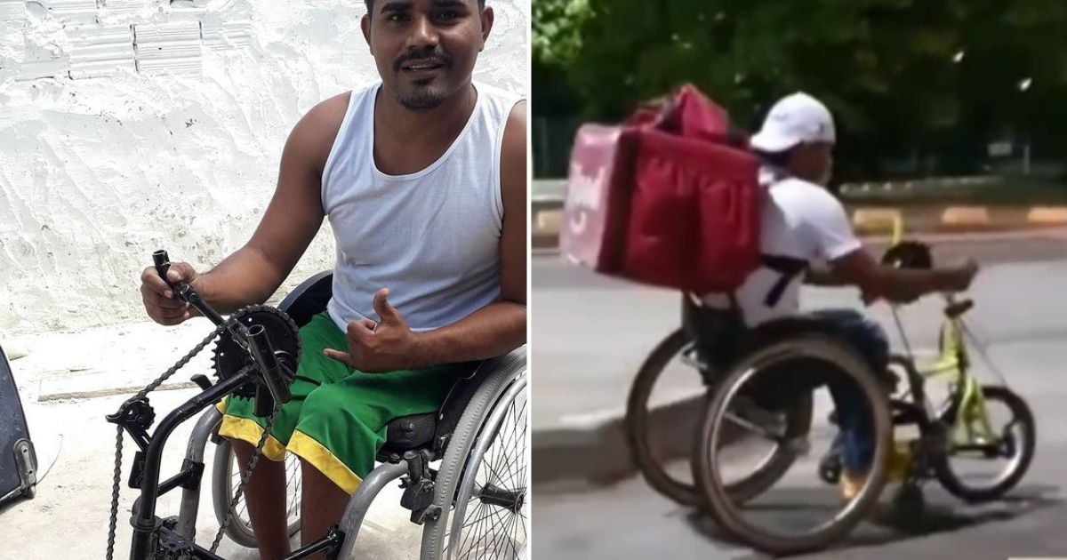 Entregador paraplégico sonha em montar oficina de cadeira de rodas e viver do esporte paraolímpico
