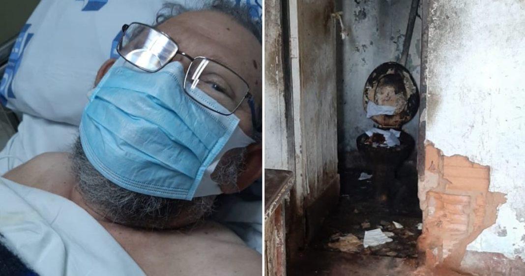 Vaquinha para idoso doente que vive em uma casa prestes a cair a construir um novo lar