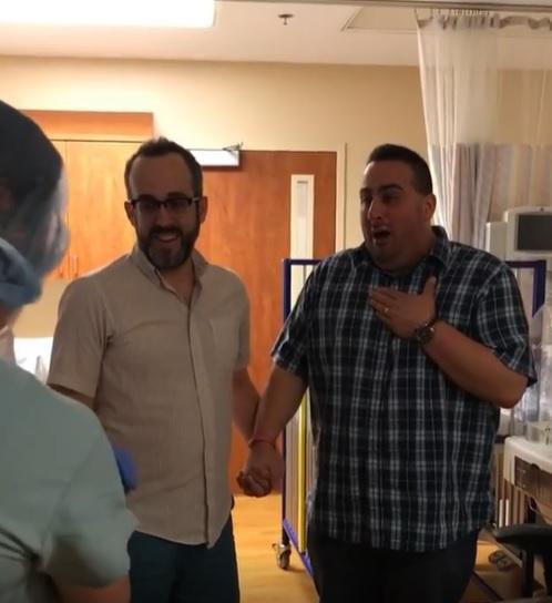 primeiro encontro papais com bebê barriga solidária