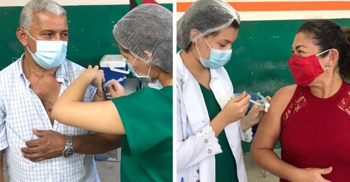técnica em enfermagem vacina os próprios pais contra covid no ceará
