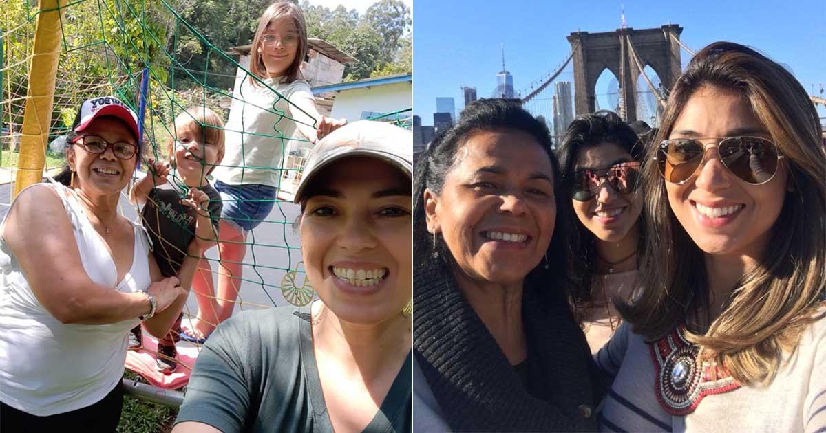 trabalhadora doméstica conhece nova york com a filha