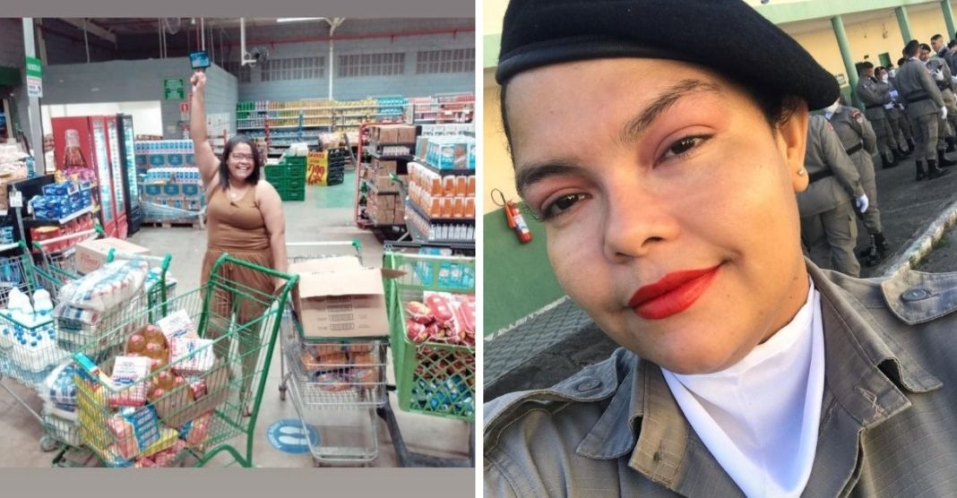 jovem alagoana doa primeiro salário como policial militar