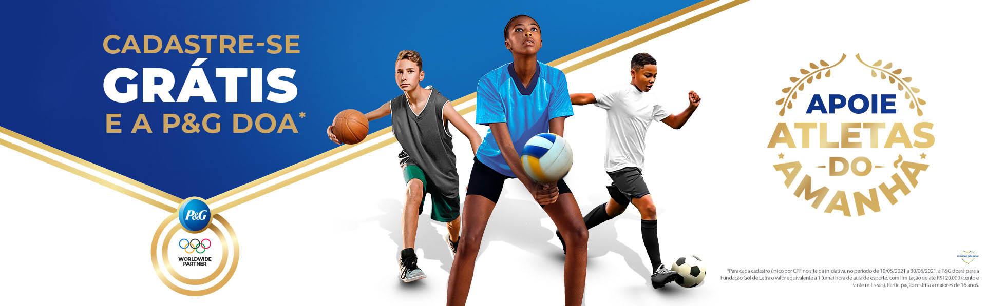 banner campanha p&g mudar vida crianças adolescentes através esporte