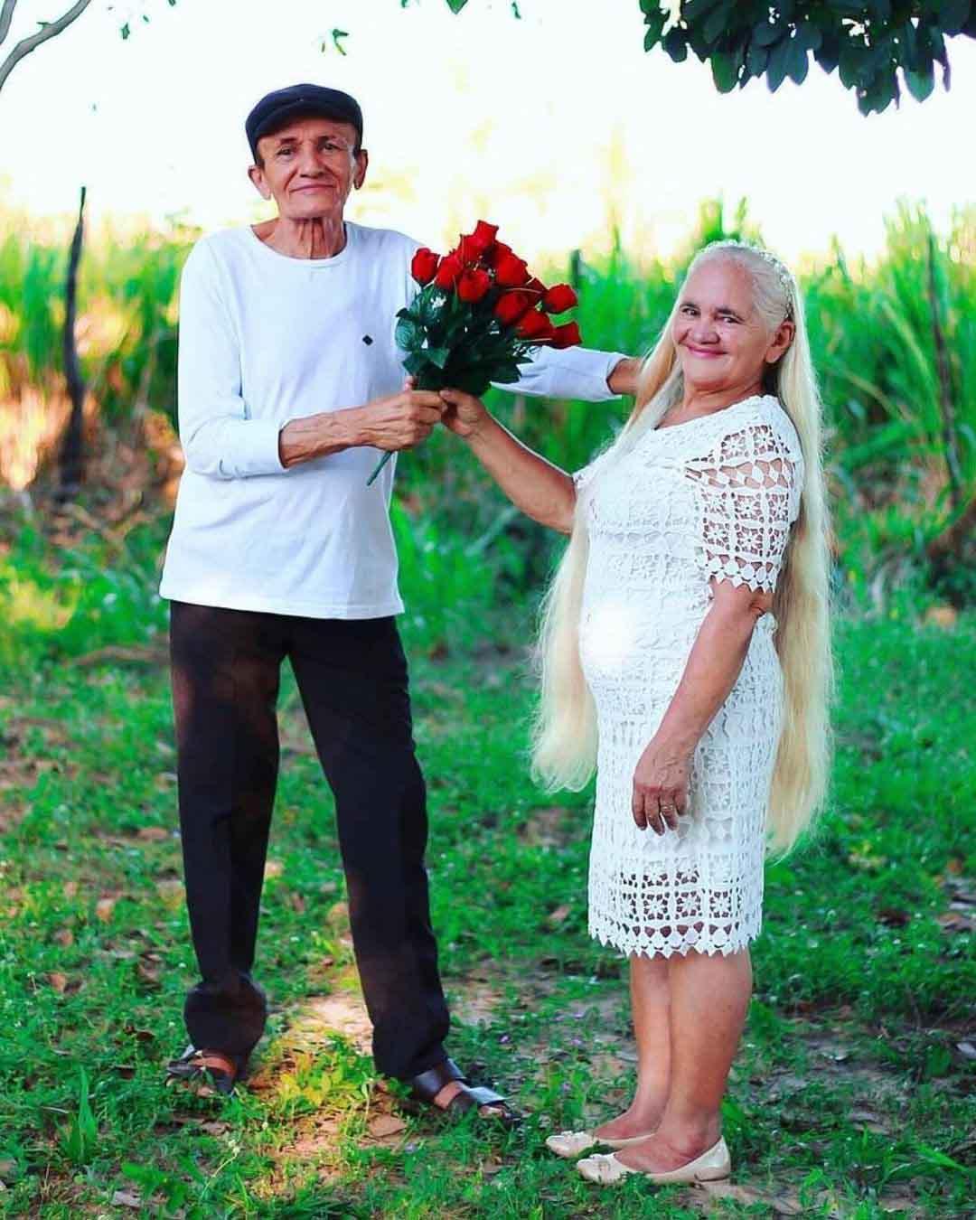 ensaio comemoração 50 anos casados idosos