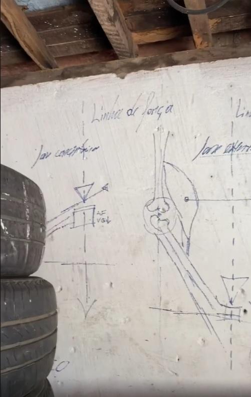 borracheiro estuda educação física anotações paredes