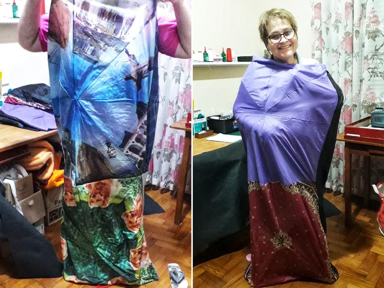 mulheres transformam guarda-chuvas em abrigos impermeáveis moradores rua