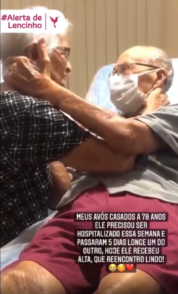 idosos casados 70 anos reencontro emocionante hospital