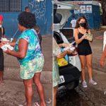 Adolescente celebra aniversário de 15 anos doando quentinhas para famílias carentes de Salvador (BA)