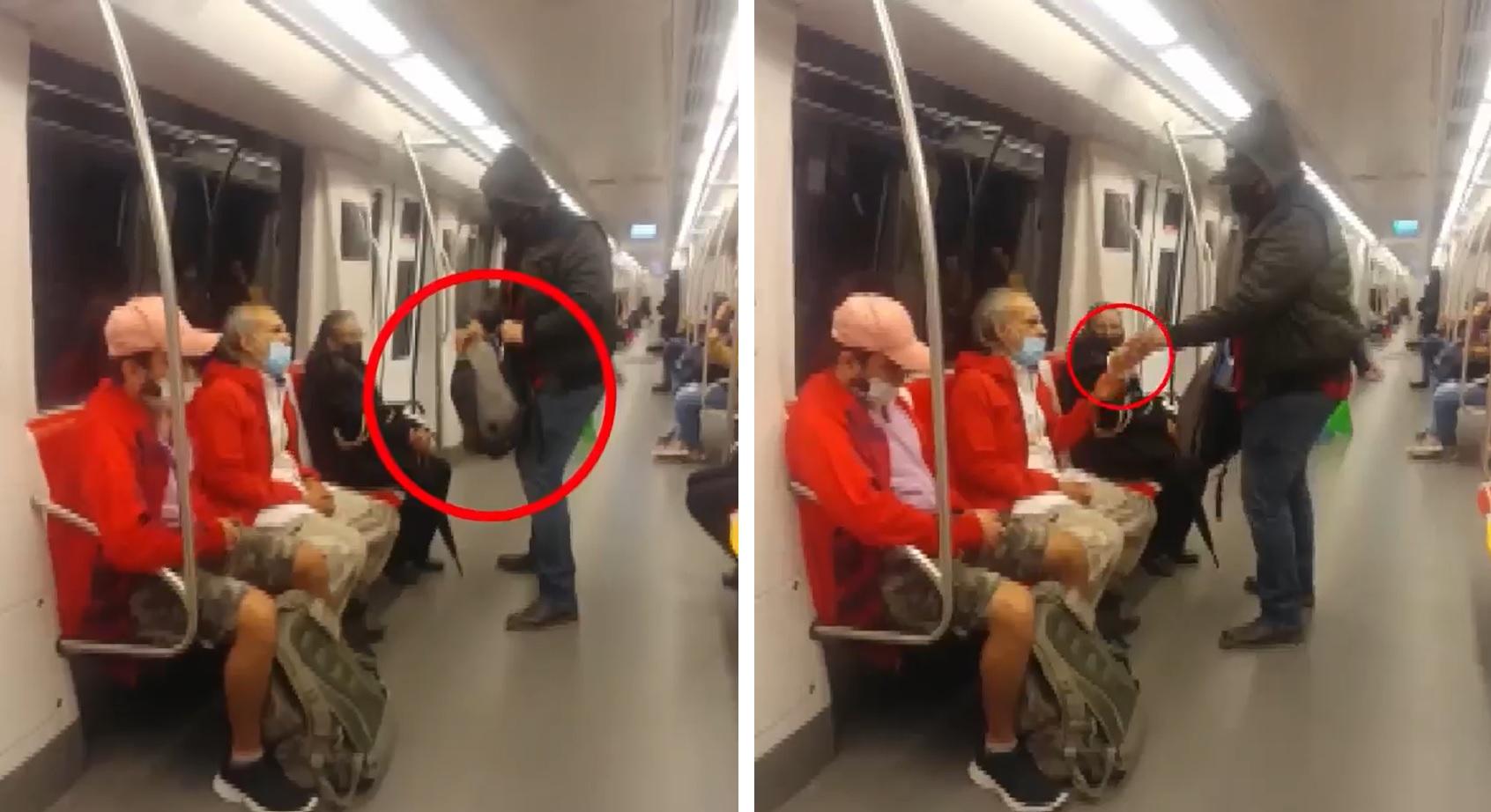 jovem oferece próprias roupas para idoso passava frio