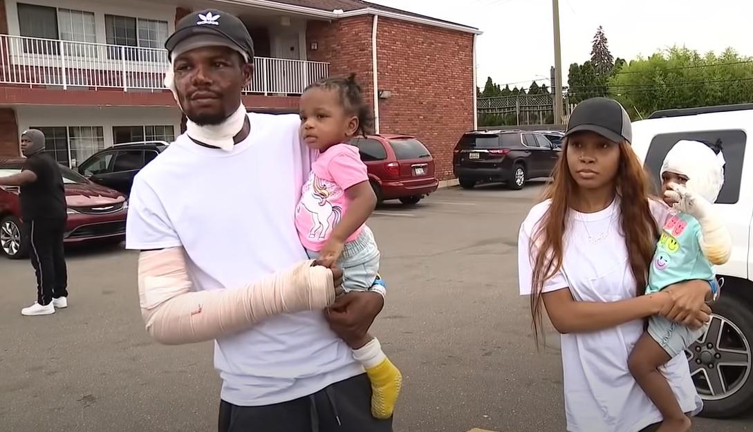 pai entra em casa em chamas para salvar filhas presas fogo