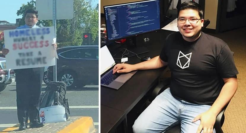 jovem sem-teto diplomado recebe proposta google netflix