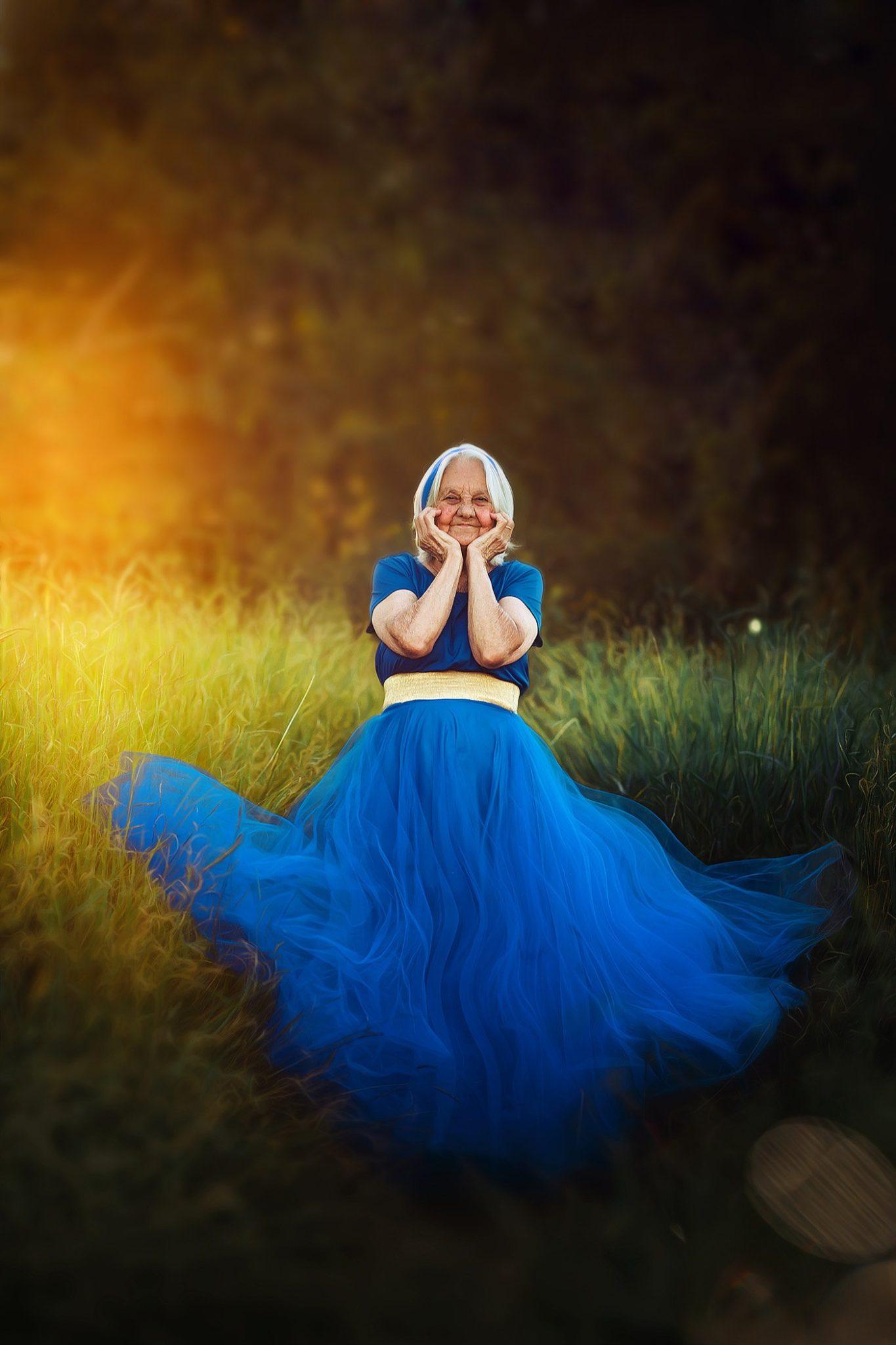 neto ensaio fotográfico avó princesas da disney