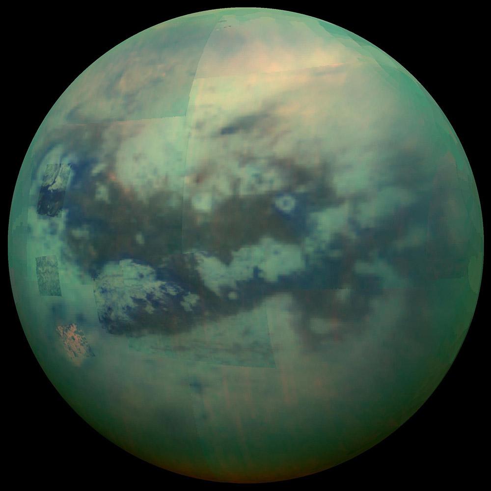 lua titá saturno imagem nasa