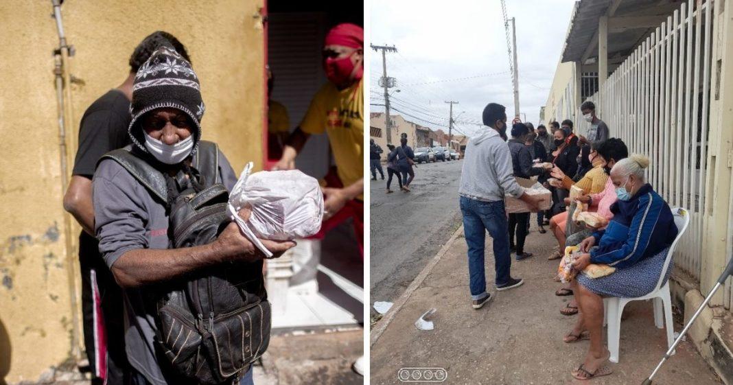 voaa vaquinha distribuição cestas família pegam osso doado açougue