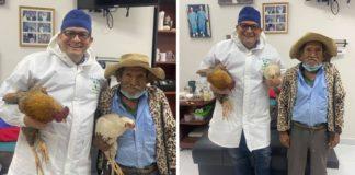 médico cirurgia idoso ofereceu galinhas pagamento