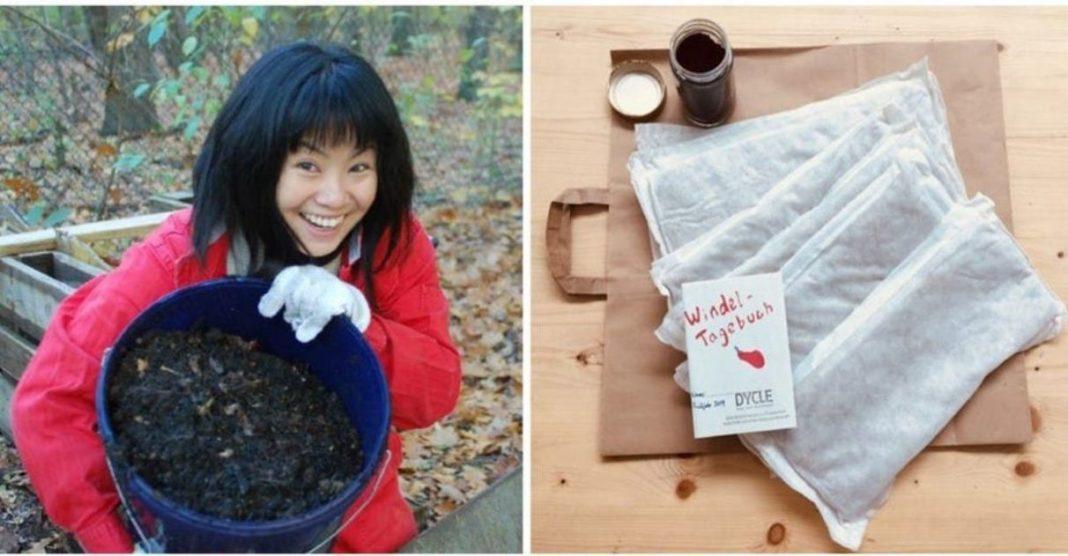 fralda biodegradável adubo cultivo plantas