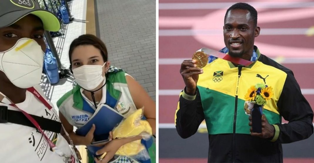 mulher paga táxi atleta olímpico medalha ouro perdido