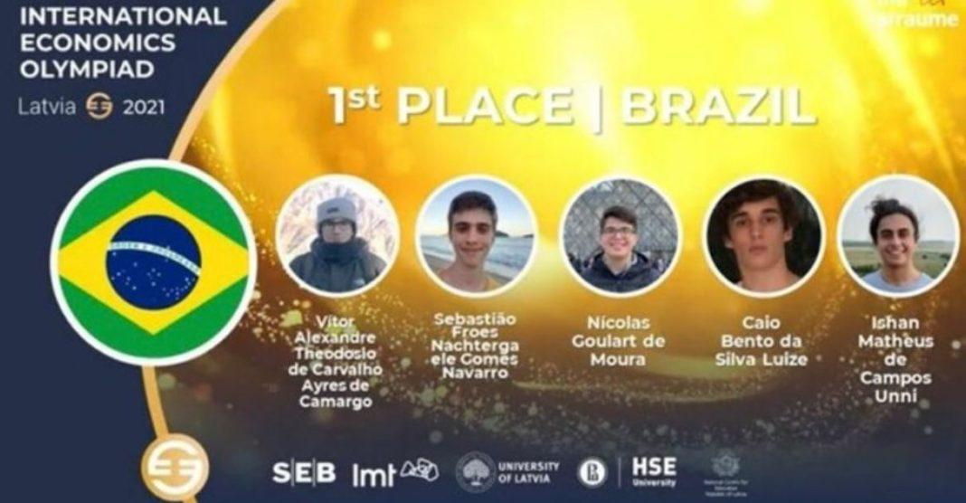brasil tricampeão olimpíada internacional de economia