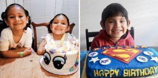 crianças abrigo ganham bolos aniversário voluntárias