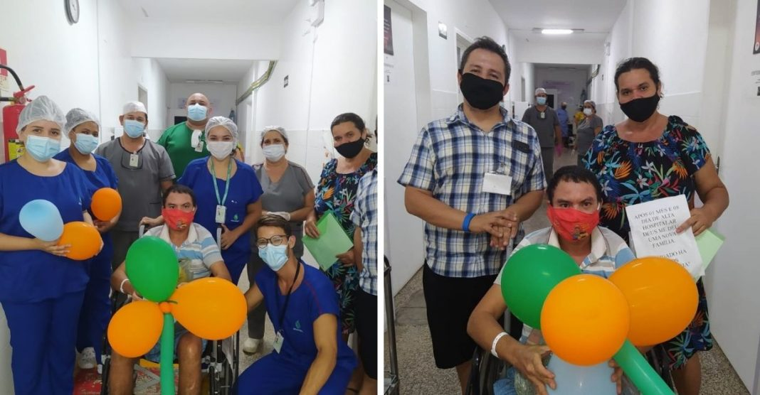 paciente situação de rua acolhido hospital após receber alta