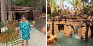 baiana constrói própria praia em casa