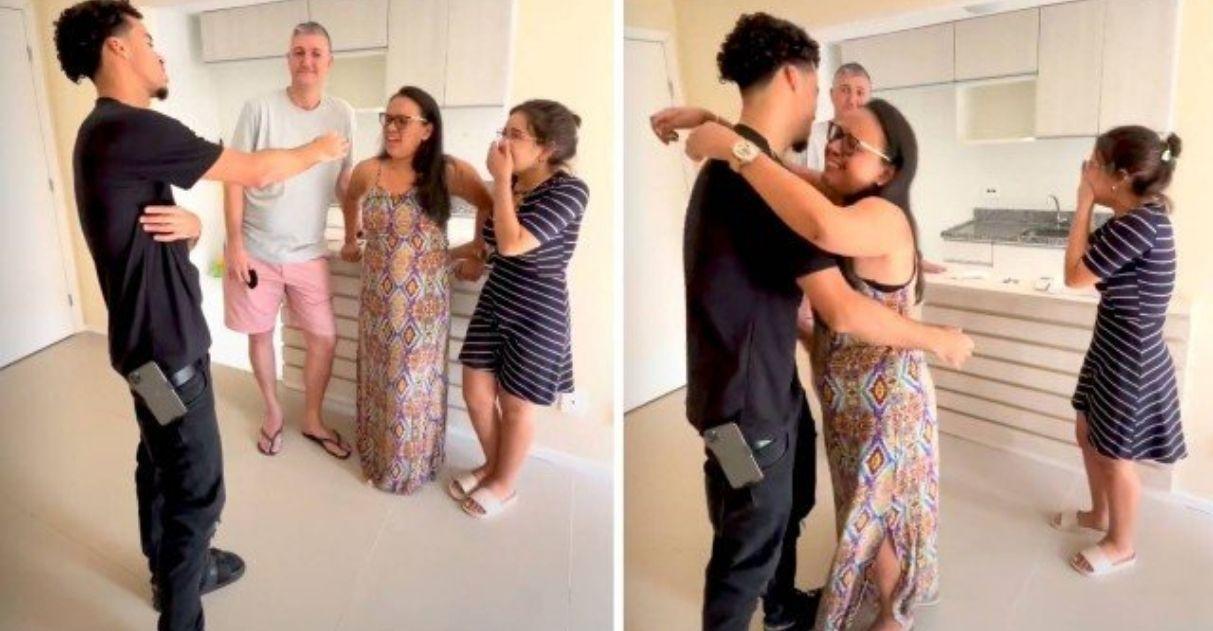 rapper l7nnon dá apartamento para sua tia