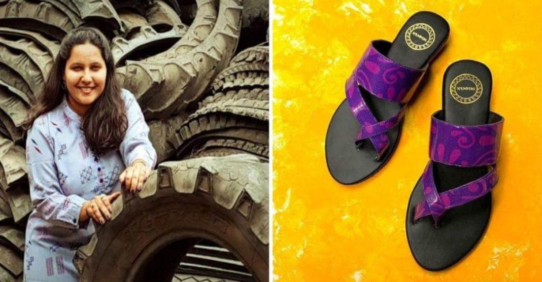 artesã indiana recicla pneus confecciona sandálias