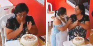 desconhecidos cantam parabéns idosa comemorava aniversário sozinha