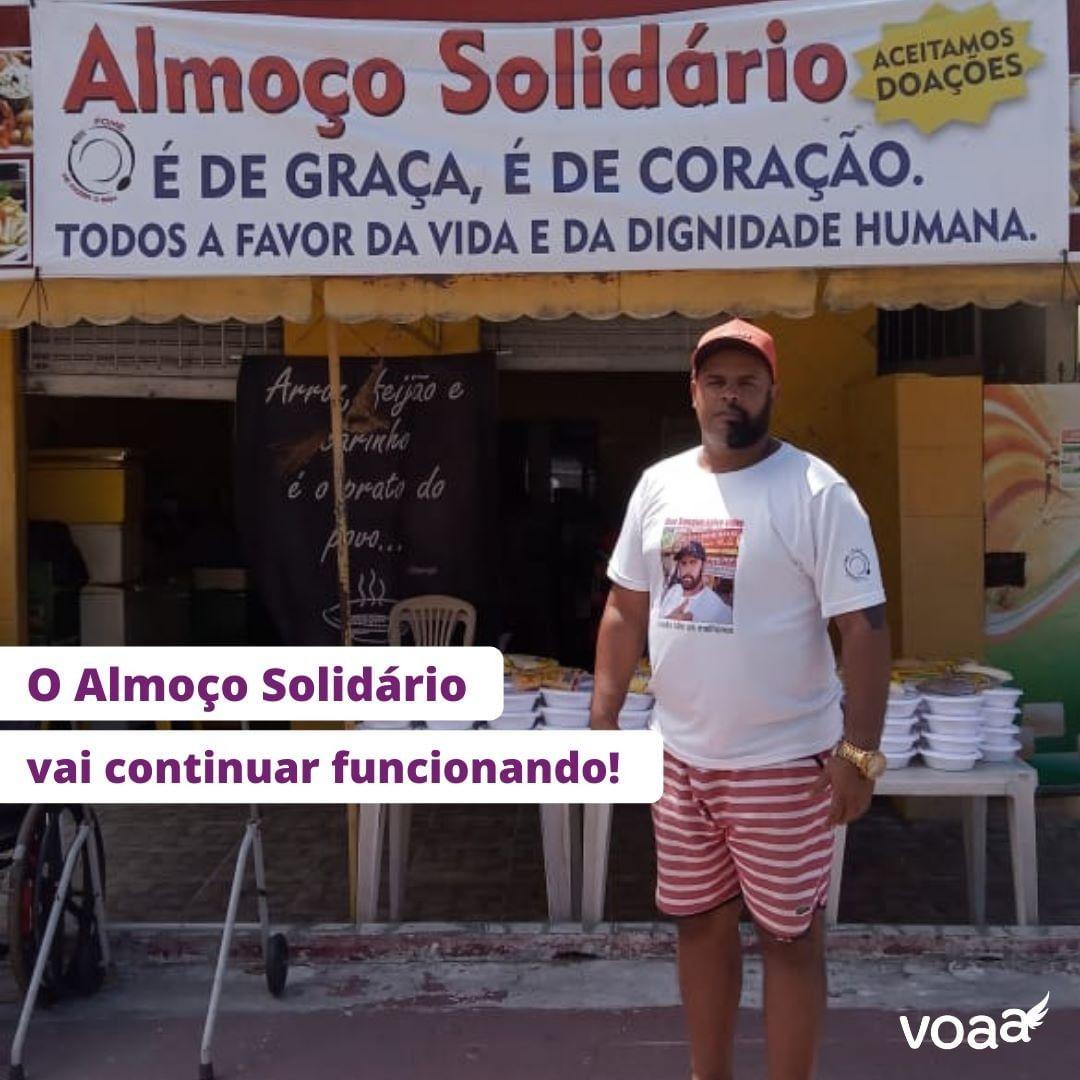 vaquinha voaa almoço solidário reforma restaurante