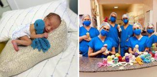 mulheres criam polvinhos crochê bebês prematuros