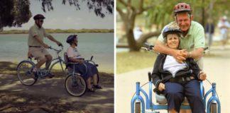 idoso cria bicicleta especial para passear com esposa alzheimer