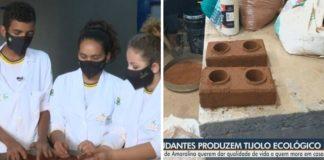 estudantes goiás criam tijolo ecológico de baixo custo